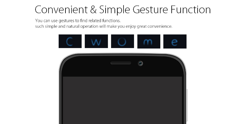 Blackview A5 gesture function